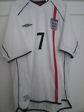 Beckham 7 England 2001-2003 Home Football Shirt Adults Extra Large XL / 44553