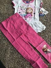 Nwt Disney Elsa Anna Frozen Set Lot Shirt Leggings Set Pink Sz 4t