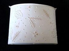 """Hallmark Hmk Tin Metal Christmas Table Wall Basket Vase Card holder 7 1/2"""" Tall"""