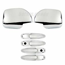 Accessories Chrome Mirror + Door Handle Caps For Toyota Land Cruiser Lexus LX470