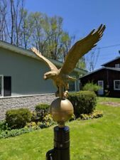 New listing Gold Bronze Eagle Flagpole Ornament-Made in Usa