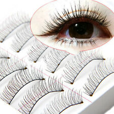 10Pairs Soft Natural Cross Handmade Eye Lashes Makeup Extension Eyela False O8K9