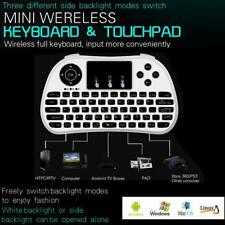 2.4G Mini Bluetooth Large Touchpad Wireless Keyboard Remote 7Colors Backlit W6R8