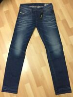 MEN Diesel BELTHER STRETCH DENIM R23T8 DARK BLUE TAPERED SLIM W30 L32 H6 RRP£150