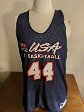Team USA Basketball Issued Reversible Practice Jersey Navy/White Champion XL