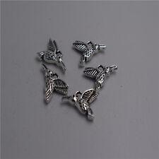 18pcs Antique silver flying bird Charm pendants F0048