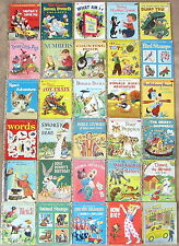 Vintage Children's Little Golden Book Lot 30 Some 1st Edition A