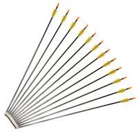 12pcs 73 cm Fiberglass Arrow F Children /Women Practice for Hunting Compound Bow