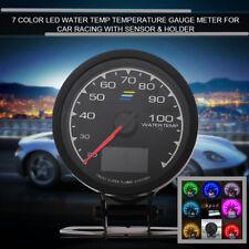62mm 2.5''Water temperature 7 Light Colors LCD Display Voltage Meter Car Gauge
