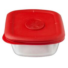 PYREX Pro Deluxe RECTANGULAR 2 Cup 1.875 STORAGE DISH & COVER Red Poppy 8210