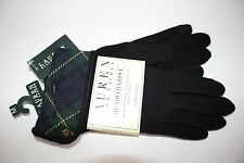 NWT RALPH LAUREN Med Women's Black Green Plaid Cuff Wool/Cashmere TOUCH Gloves
