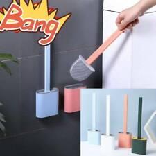 Revolutionary Silicone Flex Toilet Brush Holder Set Wall hung Hook Design 2020