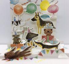 3D Pop-Up Greeting Birthday Card ~ Dogs Birthday