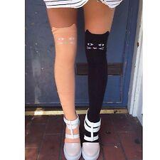 LF Stores Black Cat Sheer Tights Socks stockings. NWT OSFM