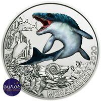 Pièce 3 euros commémorative AUTRICHE 2020 - Mosasaurus - Série Dinosaures (2/12)