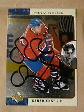 Patrice Brisebois Montreal Canadiens autographed card