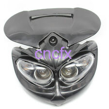 Street Fighter Head Light Lamp Fairing For Buell XR CRF DRZ KLX KLR Black