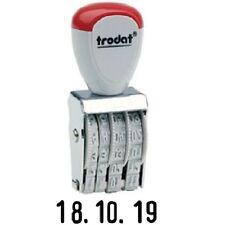 Trodat Datenstempel, grau, einfacher Stempel mit Kunststoffrädern Datum