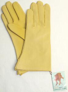 Handschuhe Leder Damen RSL Leather Finger ohne Futter Sonne Gelb 6 3/4