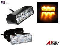 Amber 3 LED Car Truck Emergency Beacon Lights Hazard Flash Strobe Bar Warning