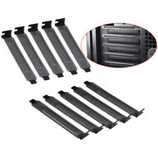 10Pcs New black PCI slot cover dust filter blanking plate hard steeO.US