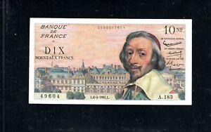 Billet 10 Nouveaux Francs Richelieu 06/04/61 TTB+ Fay 57-15