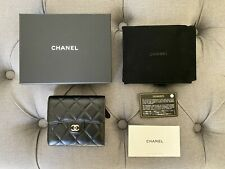 NEW CHANEL Classic Small Flap wallet AP0231 Lambskin & Silver -Tone Metal Black
