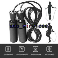 Jump Rope Gym Aerobic Exercise Boxing Skipping  Adjustable Bearing Speed Fitness