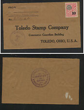 Costa  Rica  official stamp on cover to US 1933 Toledo stamp co       SSS0702