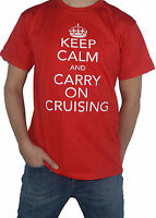 NEW Keep Calm and Carry on CRUISING Funny Holiday T-SHIRT! Cruise Ship Top