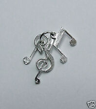 Musical notes 3 1n one charm 925 sterling silver