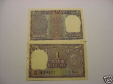 - India Paper Money - Mahatma Gandhi - Rupee 1/- Note -1869-1948 - Rare