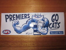 HERALD SUN AFL GEELONG CATS 2011 PREMIERSHIP PREMIERS BUMPER STICKER