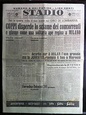 STADIO 24-10-1949 , VITTORIA DI COPPI A MILANO , CALCIO 8° GIORNATA SERIE A B C