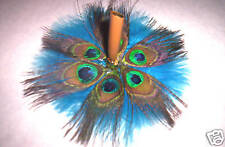 BEAUTIFUL PEACOCK FEATHER ~BASE~!!  GIFT/WEDDING/DESK