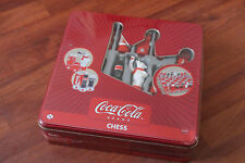NEW & SEALED RARE METAL BOX VERSION COCA-COLA CHESS SET.