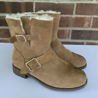 Bjorndal tan suede faux fur lined ankle boots Women's Size US 6.5 M