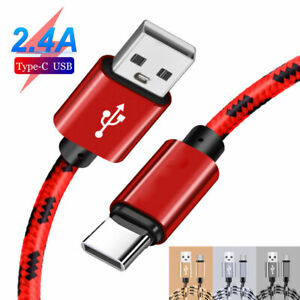 For Samsung S8 S9 S10 Plus/Huawei Type C USB-C Sync Charger Cable Charging Cable