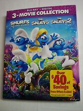The Smurfs, The Smurfs 2, Smurfs: The Lost Village (Blu-ray Disc, Digital, 2017)