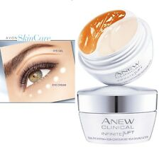 NEW DUO Creme / Gel EYE INFINTE LIFT PRO CLINICAL AVON NEUF