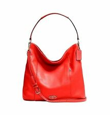 COACH Leather Hobo Shoulder Bag Purse Cardinal 34511 Authentic NWT $395