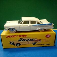 Dodge Royal Sedan crème jaune pale Dinky Toys 191 Atlas F Neuf boite 2011 1/43