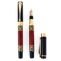 Metal Redwood Fountain Pen Ballpoint Pen Business Writing Office School Gift DD