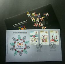 Malaysia Chairman Of ASEAN 2015 Flag Culture Traditional Costume (stamp FDC)