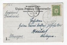 POSTCARD POSTED PALESTINE - GERMANY VIA TURKEY OTTOMAN POST JERUSALEM 1906