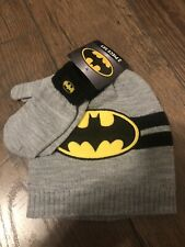 Dc Comics Batman Youth Boys 2-Piece Beanie Hat and Gloves Set