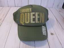 Australia's Thunder from Down Under Thunder Queen green hat cap baseball womens
