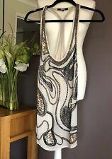 ❤️ ASOS Sequin Beaded Embellished Cream Racer back Top Size 6