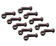 10 - Plow Bolt & Nut for Blades/ Cutting Edge, 5/8-11x2 1/4 - Grade 8, Dome Head