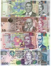 BAHAMAS Complete Set $1/2 - 1 - 3 - 5 - 10 - 20 - 50 - 100 Dollars 2009 2019 UNC